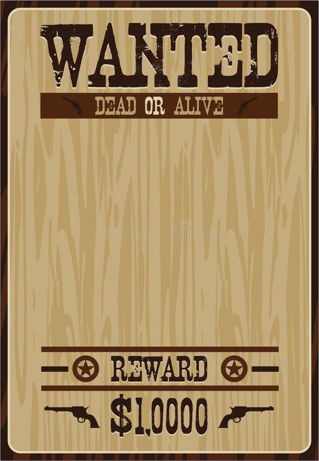 Kreskówka kowboja plakat ilustracja wektor