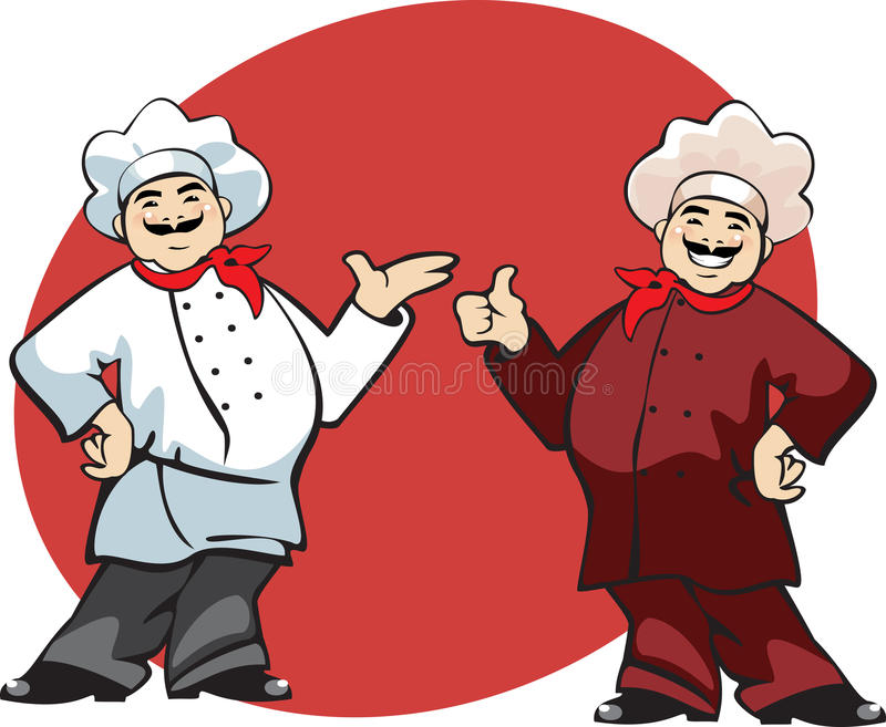 kreskówka kucharz ilustracja wektor