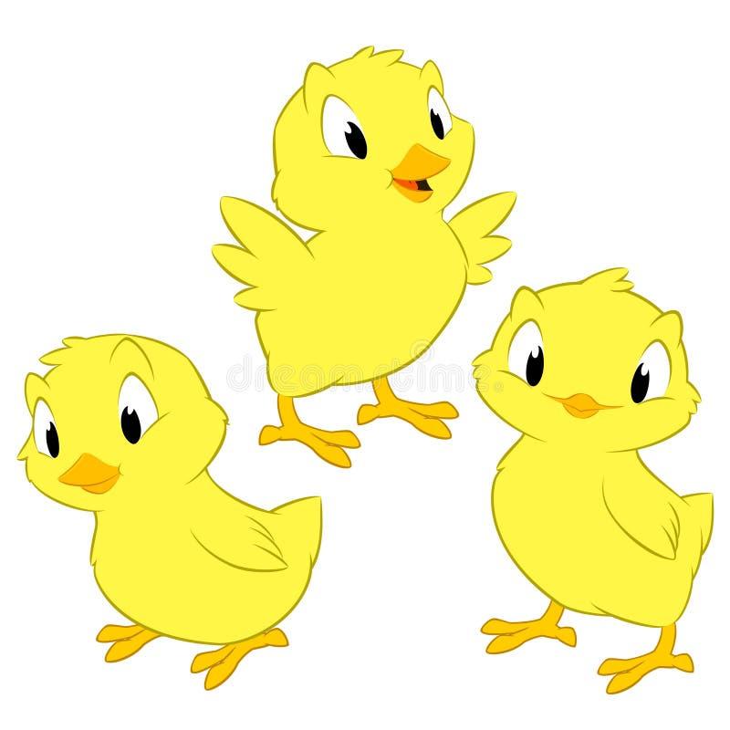 Kreskówka kurczaki ilustracji