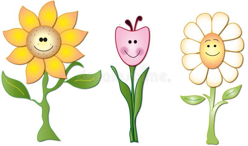 kreskówka kwiaty royalty ilustracja