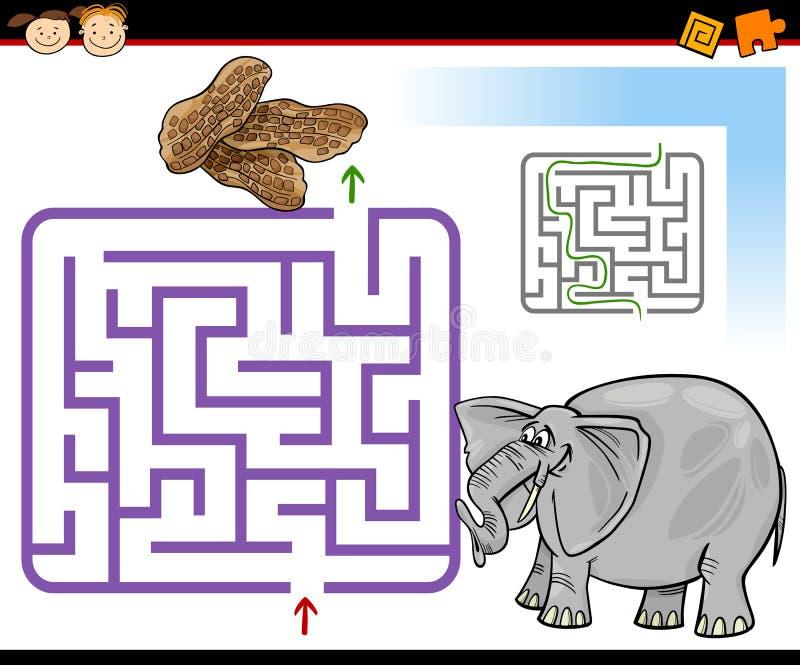 Kreskówka labirynt lub labitynt gra ilustracji