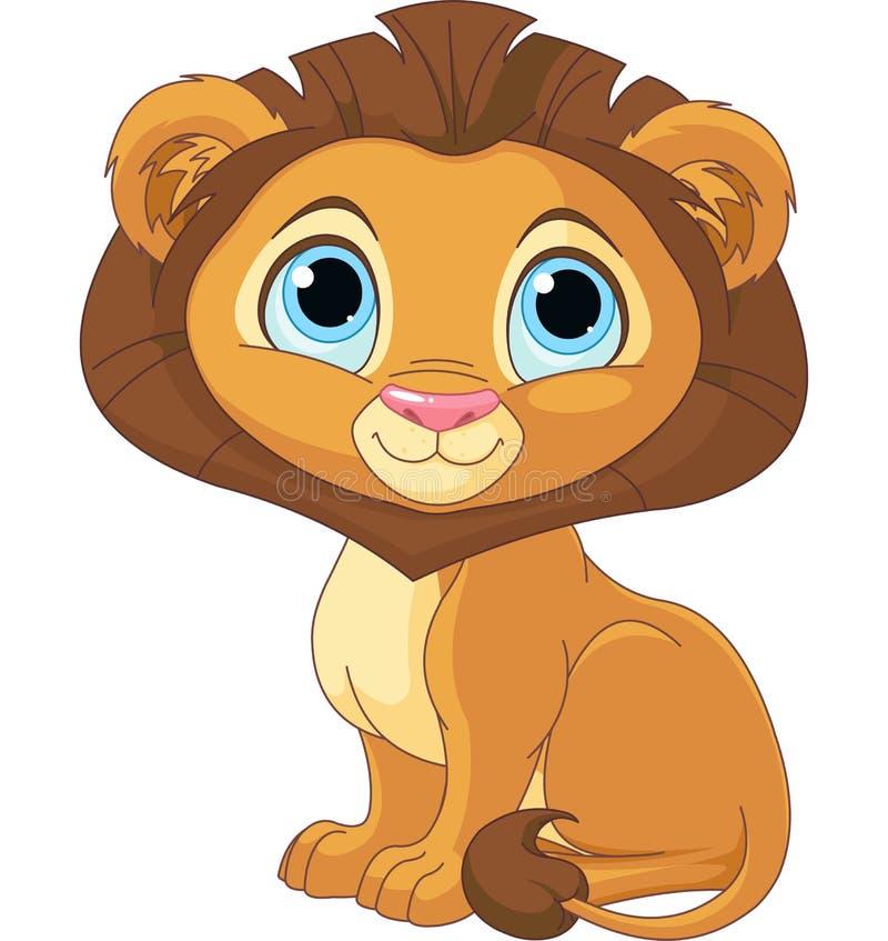 Kreskówka lew royalty ilustracja