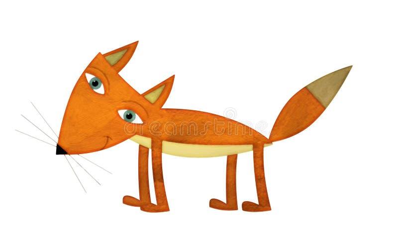 Kreskówka lis - ilustracja dla dzieci ilustracja wektor