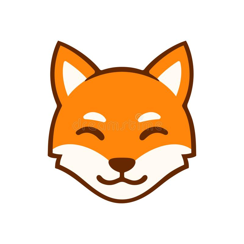 Kreskówka lisa twarzy logo royalty ilustracja