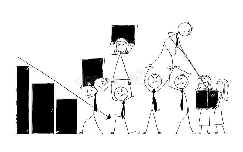 Kreskówka ludzie biznesu pracy zespołowej pojęcia ilustracji