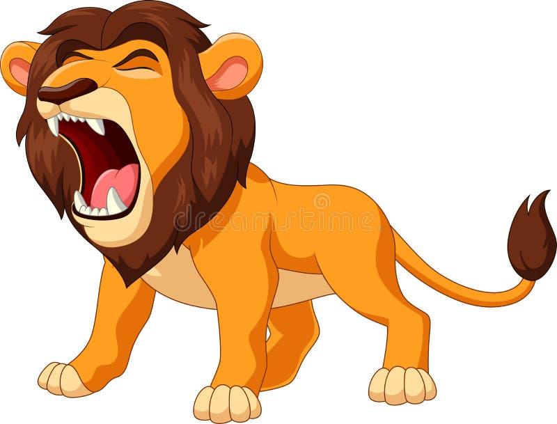 kreskówka lwa huczenie ilustracja wektor