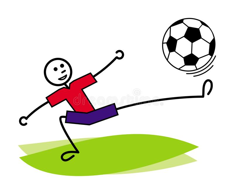 Kreskówka mężczyzna żongluje piłki nożnej piłkę Futbol, piłka nożna/ jest może projektant wektor evgeniy grafika niezależny kotel royalty ilustracja