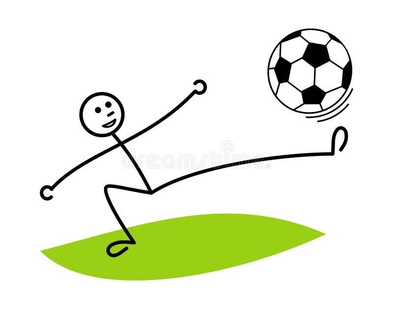 Kreskówka mężczyzna żongluje piłki nożnej piłkę Futbol, piłka nożna/ jest może projektant wektor evgeniy grafika niezależny kotel ilustracja wektor