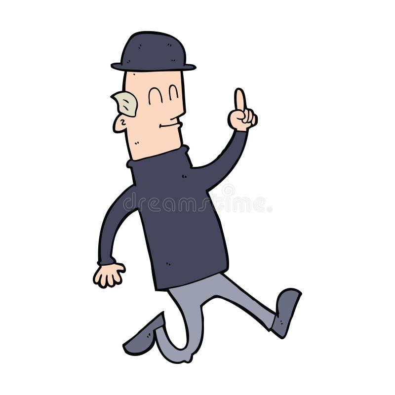 kreskówka mężczyzna jest ubranym dęciaka kapelusz royalty ilustracja