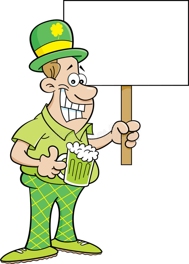 Kreskówka mężczyzna jest ubranym Derby i trzyma znaka royalty ilustracja