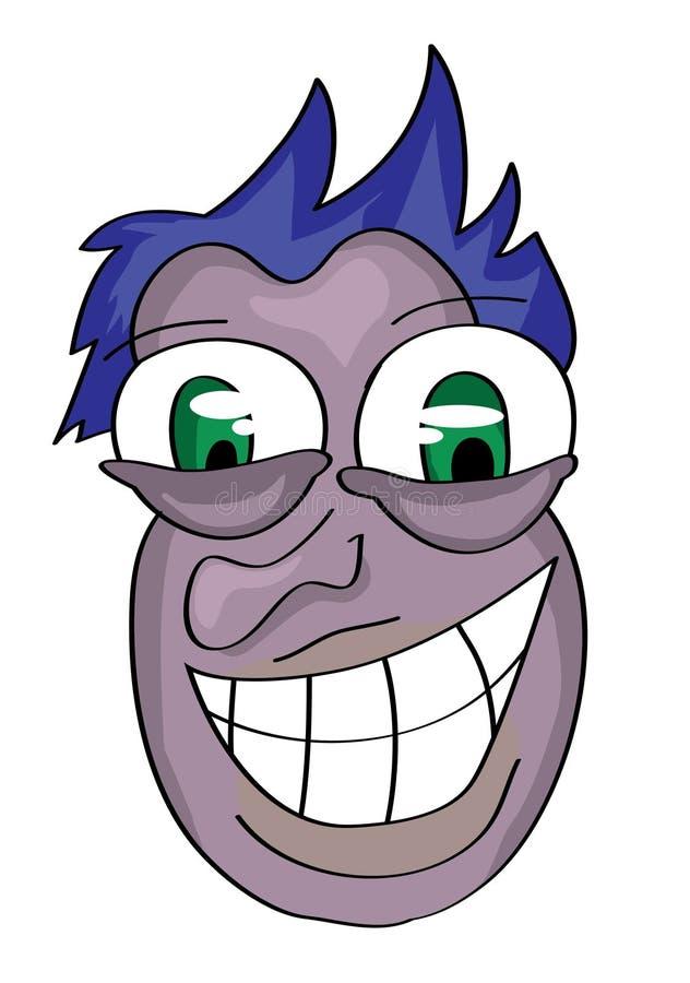 Kreskówka mężczyzna twarz obraz royalty free