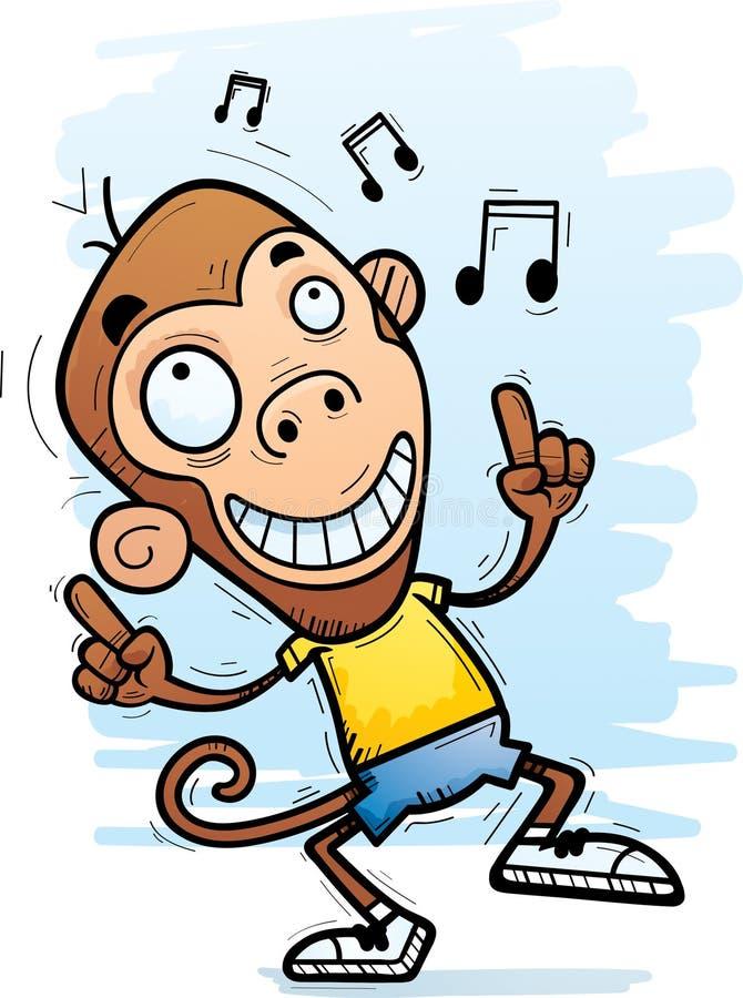 Kreskówka Małpi taniec royalty ilustracja