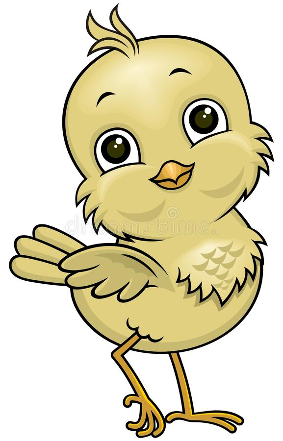Kreskówka mały ptak 02 royalty ilustracja