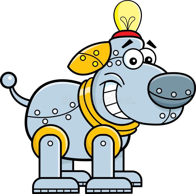 Kreskówka machinalny pies royalty ilustracja
