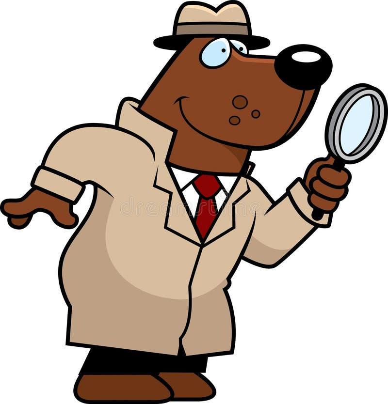 Kreskówka Niedźwiadkowy detektyw royalty ilustracja
