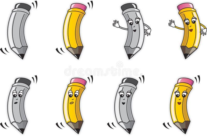 kreskówka ołówek ilustracja wektor