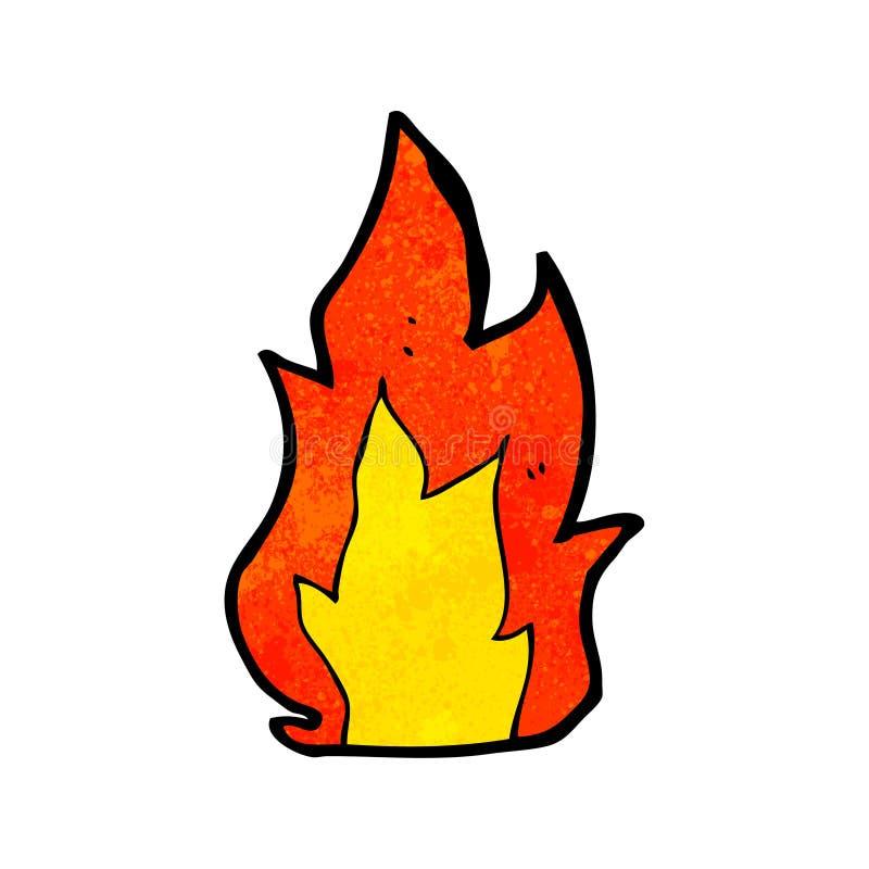 kreskówka ogień royalty ilustracja