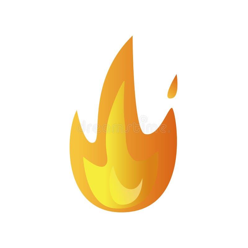 Kreskówka ogienia płomienia ikony set 10 t?o projekta eps techniki wektor ilustracji