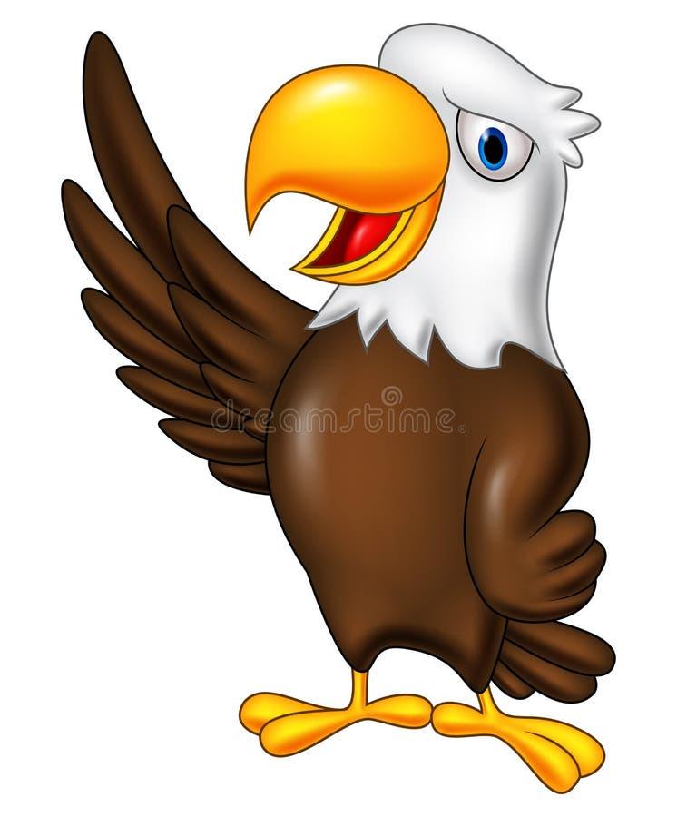 Kreskówka orła falowanie ilustracja wektor