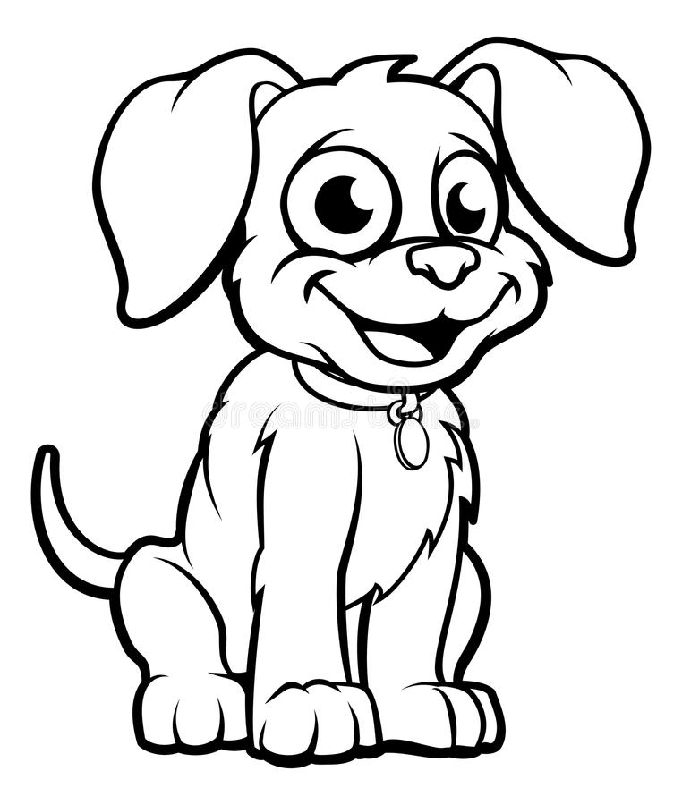kreskówka pies ilustracji