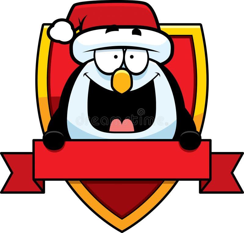 Kreskówka pingwinu Bożenarodzeniowa odznaka royalty ilustracja