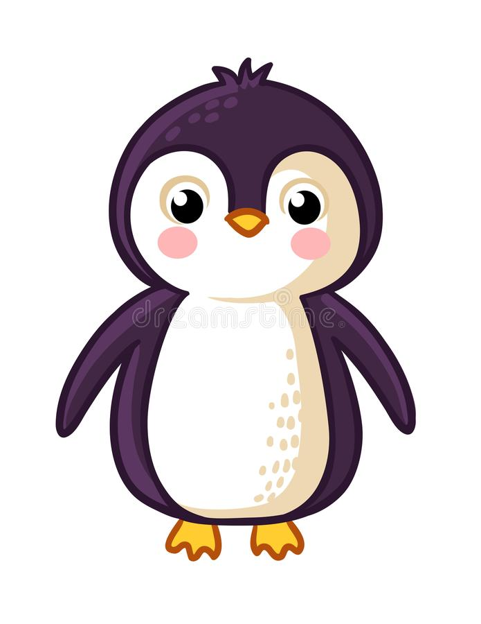 Kreskówka pingwinu ikona ilustracja wektor