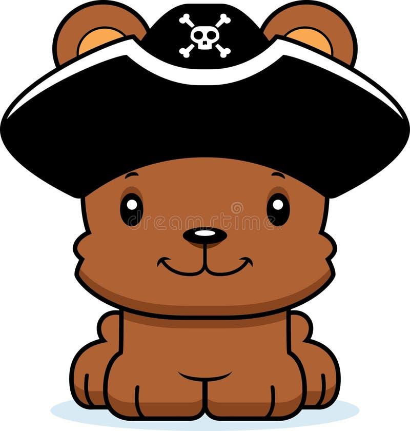 Kreskówka pirata Uśmiechnięty niedźwiedź ilustracja wektor