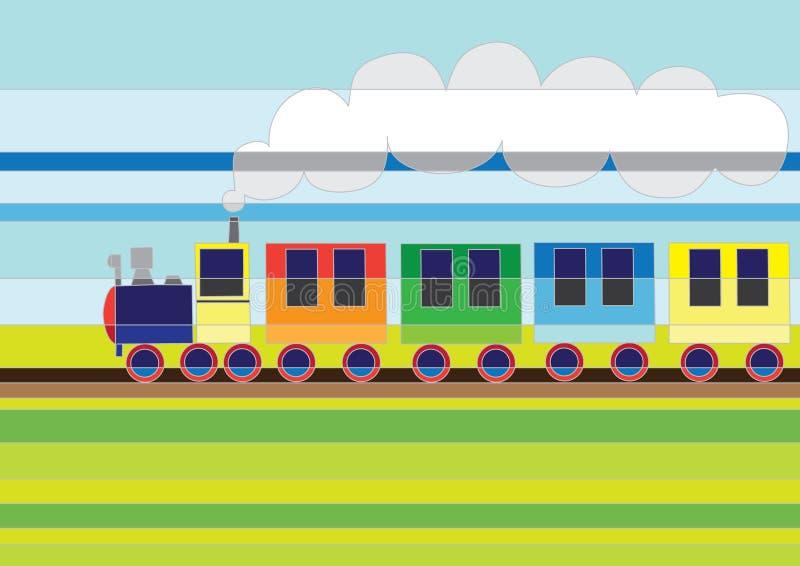kreskówka pociąg ilustracja wektor