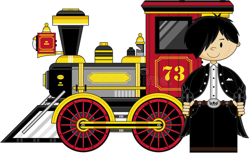 Kreskówka pociąg & ilustracja wektor