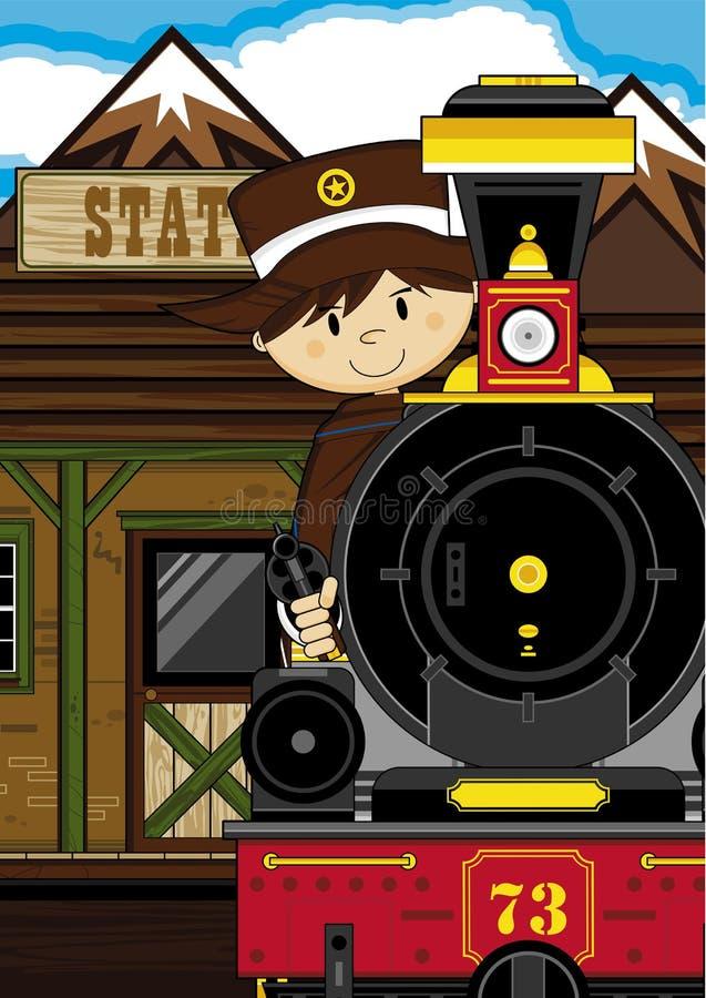 Kreskówka pociąg & royalty ilustracja