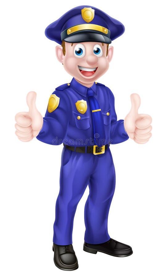 Kreskówka policjant Daje aprobatom royalty ilustracja