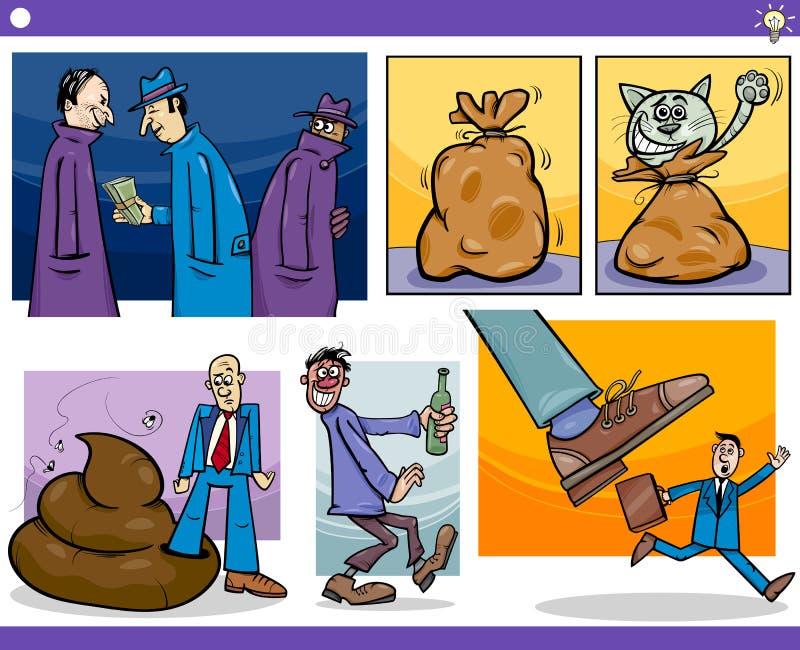 Kreskówka pomysły i ilustracja wektor