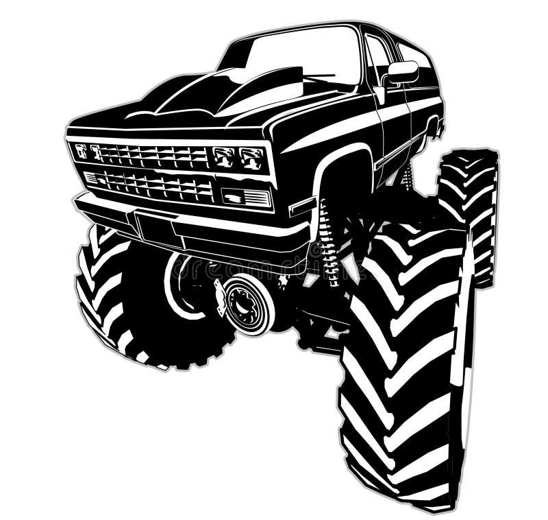 Kreskówka potwora ciężarówka ilustracja wektor