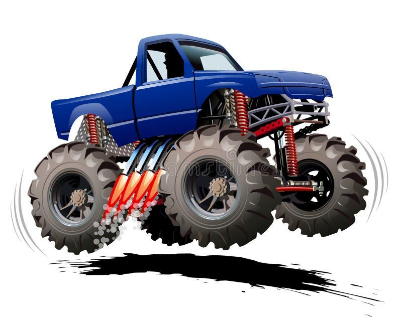 Kreskówka potwora ciężarówka royalty ilustracja