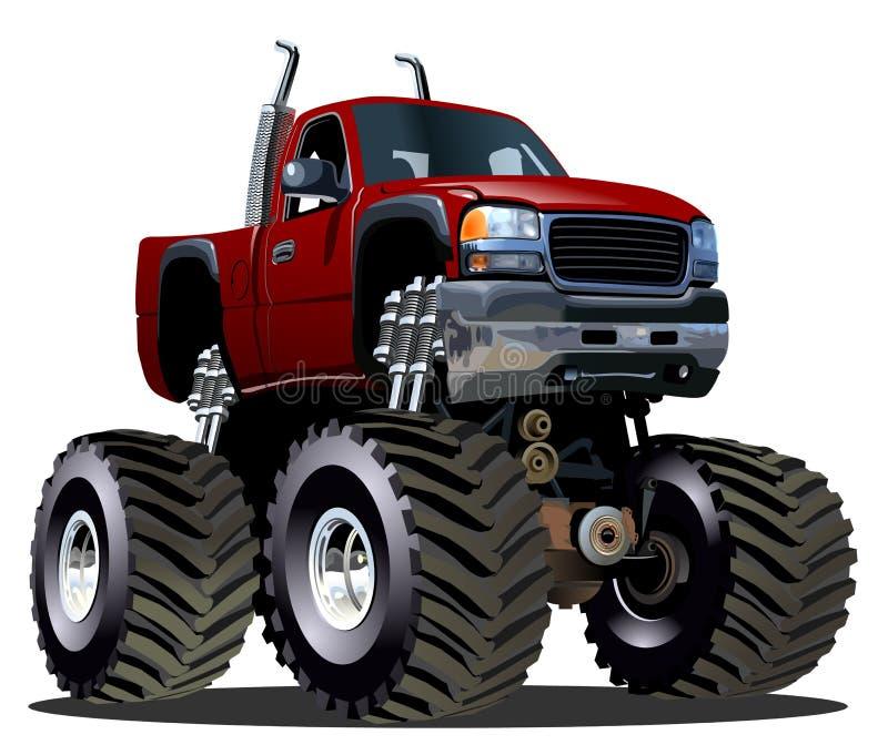 Kreskówka potwora ciężarówka ilustracji