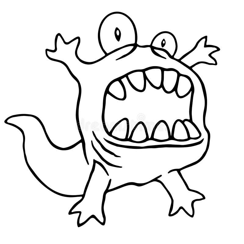 Kreskówka potwora duża głowa również zwrócić corel ilustracji wektora royalty ilustracja