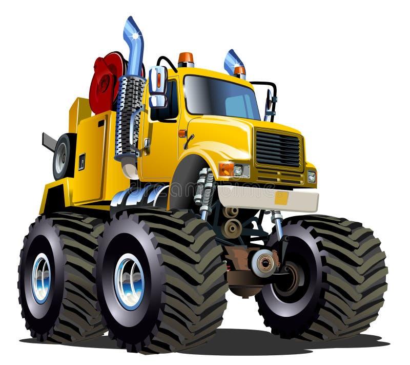 Kreskówka potwora Holownicza ciężarówka ilustracji
