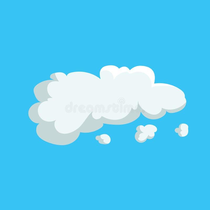 Kreskówka projekta śliczna obłoczna modna ikona Wektorowa ilustracja pogody lub nieba tło ilustracji