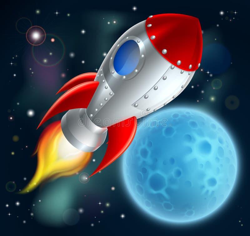 Kreskówka Rakietowy Astronautyczny statek royalty ilustracja