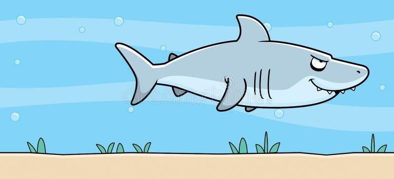 Kreskówka rekin Podwodny royalty ilustracja
