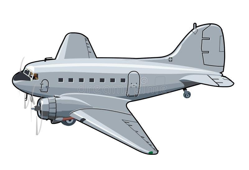 Kreskówka retro samolot royalty ilustracja