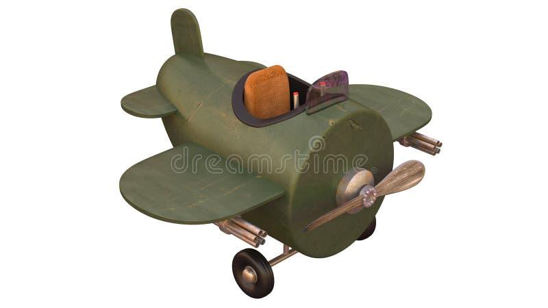 Kreskówka Retro samolot szturmowy ilustracji