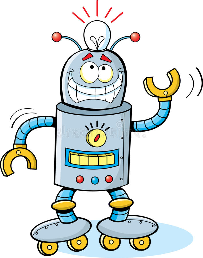 kreskówka robot ilustracji