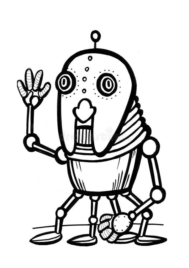 kreskówka robot obrazy royalty free