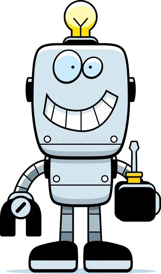 Kreskówka robota śrubokręt ilustracja wektor