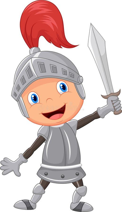 Kreskówka rycerza chłopiec ilustracji