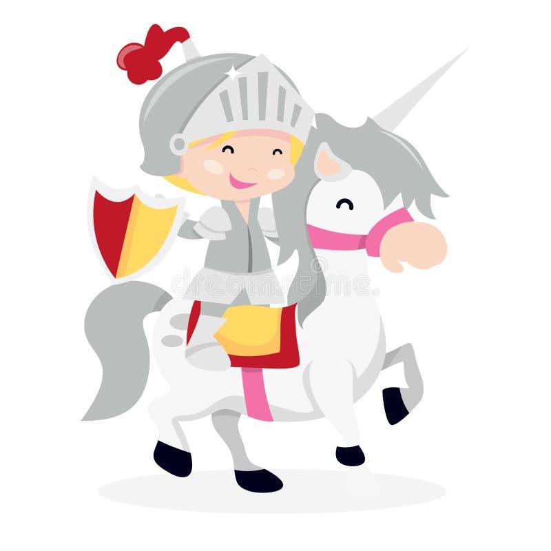 Kreskówka rycerza chłopiec ono Potyka się ilustracji