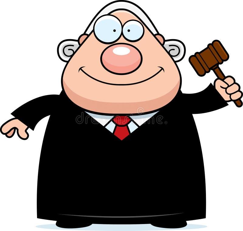 Kreskówka sędziego młoteczek ilustracji