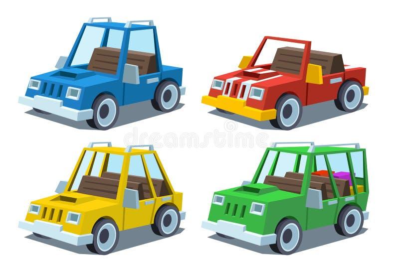 Kreskówka samochodu set ilustracji