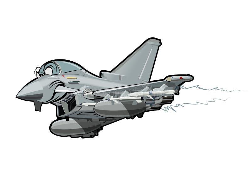 Kreskówka samolot szturmowy royalty ilustracja